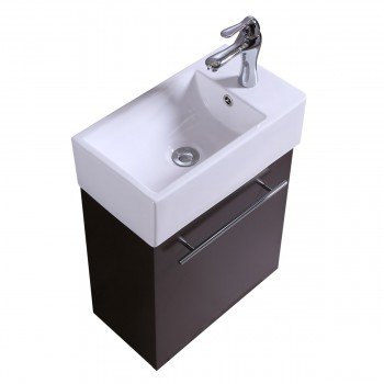 17 Small White Vanity Bathroom Sink Black Cabinet with Faucet and Drain Bathroom Cabinet Sink Vanity Sinks For Bathrooms Wall Mount Cabinet Sink