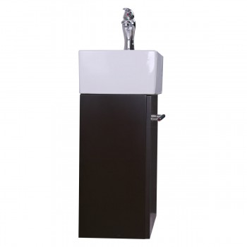 <PRE>17inch Small Bathroom Vanity Wall Mount Cabinet White Sink Drain and Faucet Combo</PRE>zoom6