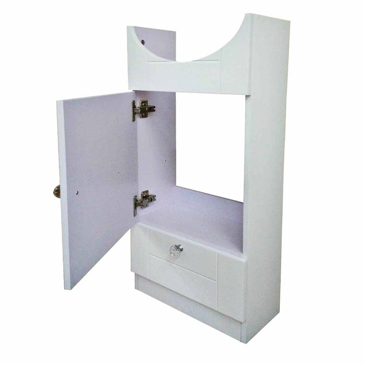 White Painted MDF Cabinet Only