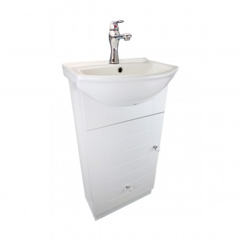 <PRE>18inch Small Bathroom Vanity Cabinet Sink with Faucet and Drain Renovator's Supply</PRE>zoom5