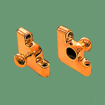Pair Carpet Rod Brackets Solid Brass Ball End Cap Brass Carpet Rod Brackets Stair Rod Brackets Stair Runner Brackets