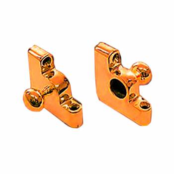 Pair Carpet Rod Brackets Solid Brass Ball End Cap