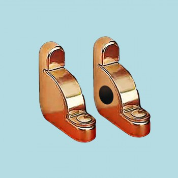 Pair Carpet Rod Brackets Solid Brass Stair Holder