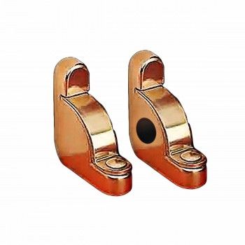 Carpet Rod Brackets Solid Brass Pair End Holder
