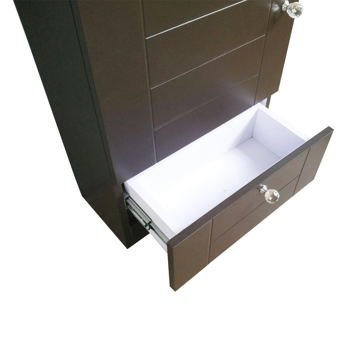 Renovators Supply Bathroom Vanity Cabinet Sink with Faucet and Drain Combo Modern Sleek Small Space Saving Dark Oak Brown Bathroom Cabinet Vanity Mounted Sink Modern Cabinet Vanity Sink With Drawers