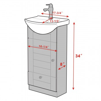 spec-<PRE>Renovator's Supply Bathroom Vanity Cabinet Sink with Faucet and Drain Combo</PRE>