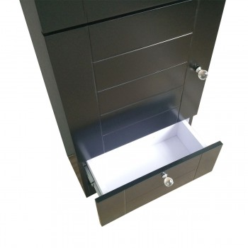 <PRE>Small Bathroom White &amp; Black Vanity Cabinet with Faucet and Drain</PRE>zoom3