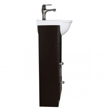 <PRE>Small Bathroom White &amp; Black Vanity Cabinet with Faucet and Drain</PRE>zoom6