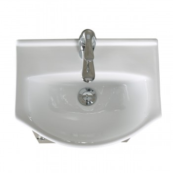 <PRE>Renovator's Supply Small Bathroom White & Black Vanity Cabinet Sink</PRE>zoom8