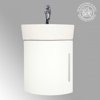 <PRE>Renovator's Supply Corner Bathroom White Vanity Cabinet Sink Faucet Drain Combo</PRE>zoom2
