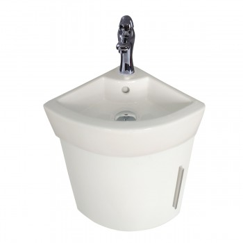 <PRE>White Vanity Bathroom Sink Small Corner Cabinet Sink with Faucet and Drain</PRE>zoom5