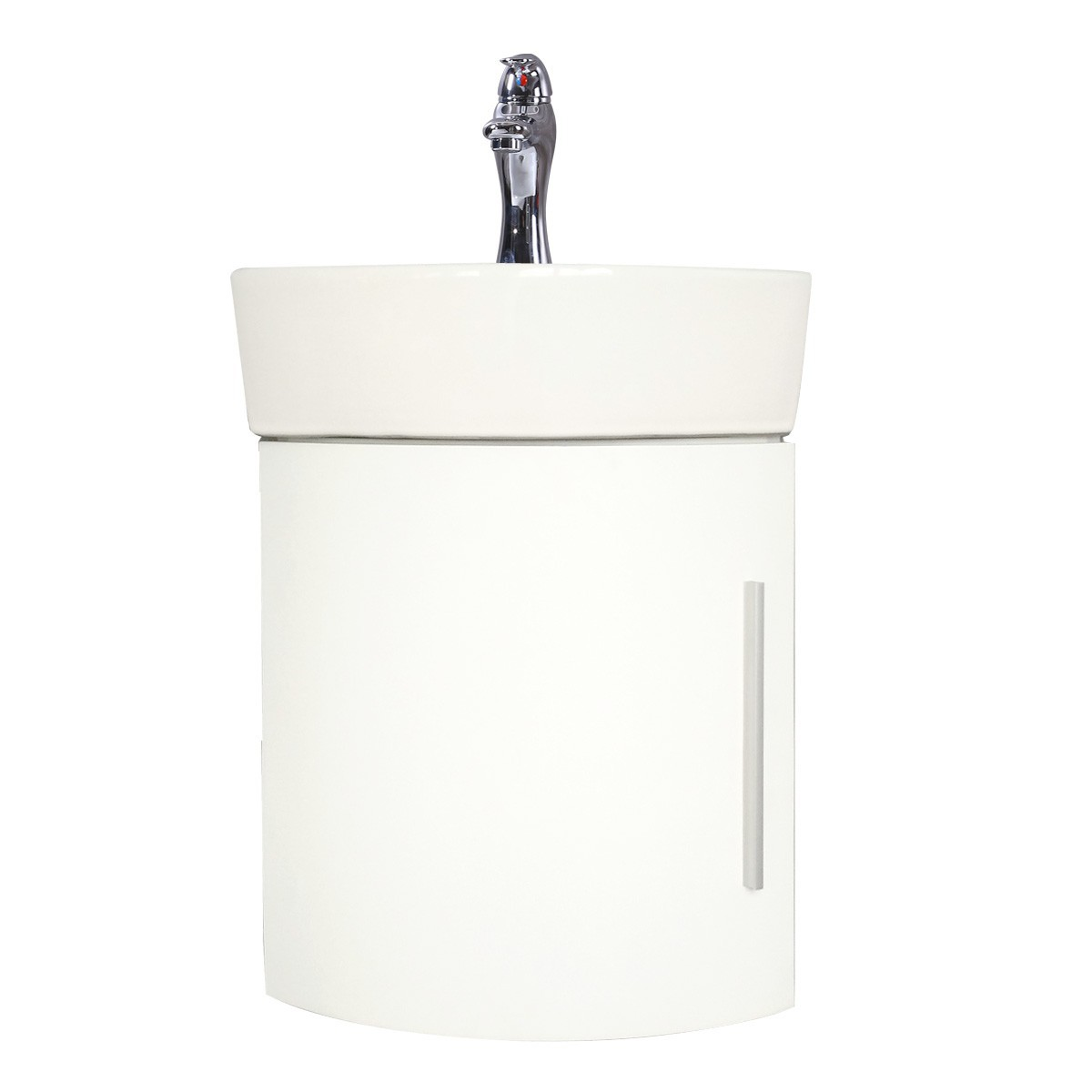 Corner Bathroom Cabinet Sink White Vanity Wall Mount