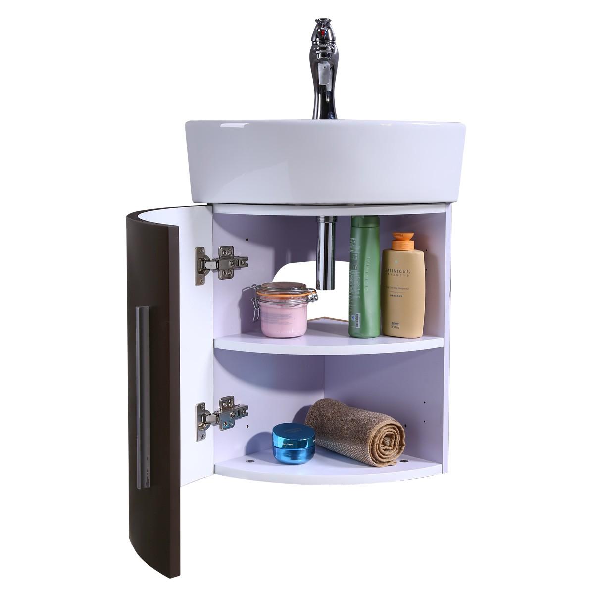 Renovators Supply Corner Bathroom White and Brown Vanity Cabinet Sink Bathroom Cabinet Sink Vanity Sinks For Bathrooms Wall Mount Cabinet Sink