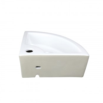 <PRE>Renovator's Supply Corner Wall Mount Dark Oak Cabinet Vanity with White Sink</PRE>zoom11