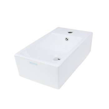 <PRE>Small White Vanity Bathroom Sink Black Cabinet with Faucet and Drain Wall Mount</PRE>zoom6