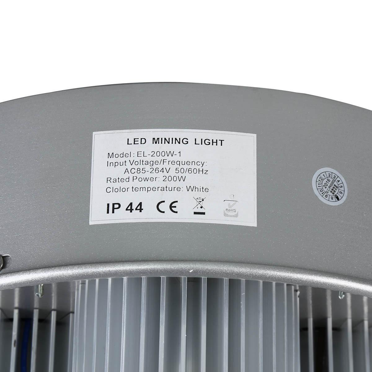200W High Bay LED Light Fixture White 20,000+ Lumens Bay Led Lighting Warehouse Lighting Led Factory Lighting