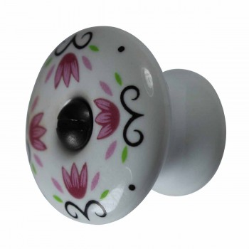 <PRE>Cabinet Knob White Porcelain 1 1/4inch W/ Black Screw </PRE>zoom1