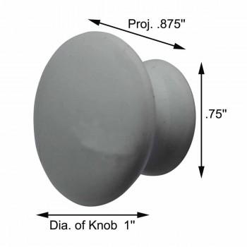 "spec-<PRE>Cabinet Knob White Porcelain 1"" Dia </PRE>"