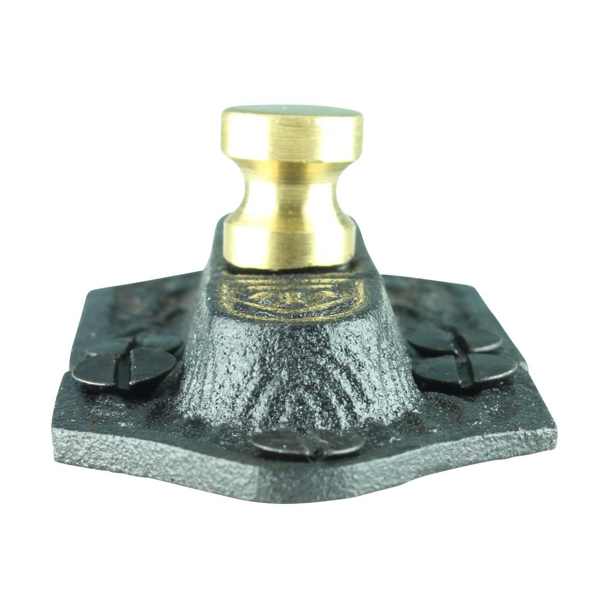 Ornate Cast Iron Slide Cabinet Latch Brass Knob Cabinet Latch Brass Cabinet Latch Antique Black Cabinet Latch