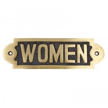 Solid Brass Sign Women 2 1/8 H x 7 W22030grid