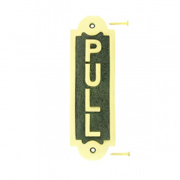 Solid Brass Sign Pull 2 1/8 H x 7 W22036grid
