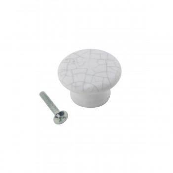 <PRE>Cabinet Knob Grayish Porcelain Crazed 1 1/2inch Dia </PRE>zoom3