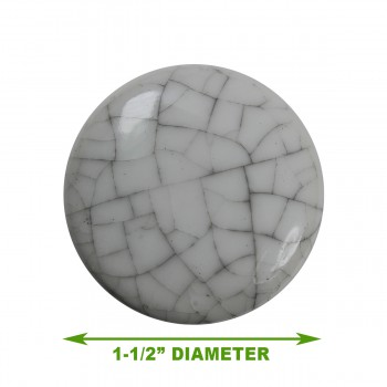 spec-<PRE>Cabinet Knob Grayish Porcelain Crazed 1 1/2&quot; Dia </PRE>