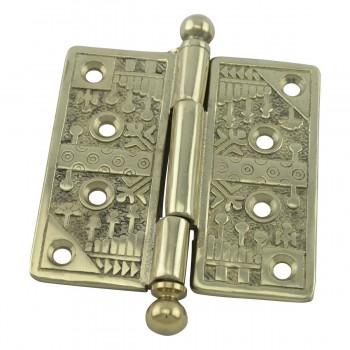 <PRE>Victorian Door Hinge Cast Solid Brass Ball Tip 4inch </PRE>zoom4