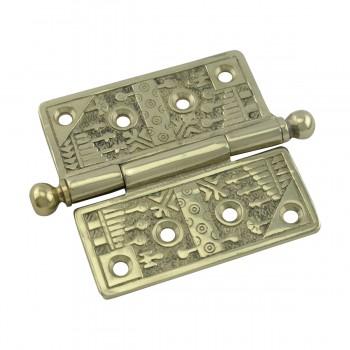 <PRE>Victorian Door Hinge Cast Solid Brass Ball Tip 4inch </PRE>zoom5
