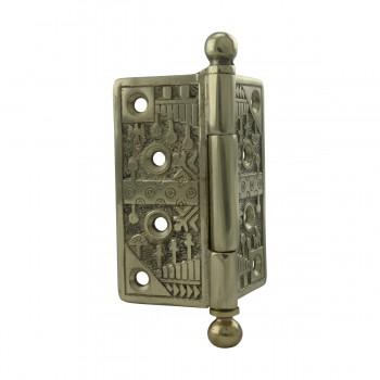 <PRE>Victorian Door Hinge Cast Solid Brass Ball Tip 4inch </PRE>zoom7