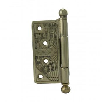 <PRE>Victorian Door Hinge Cast Solid Brass Ball Tip 4inch </PRE>zoom8
