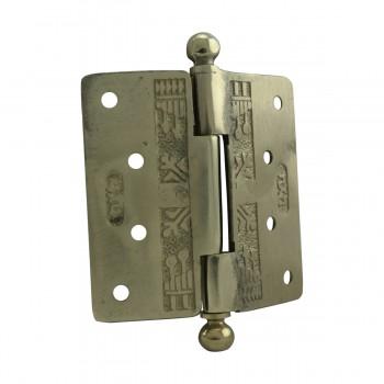<PRE>Victorian Door Hinge Cast Solid Brass Ball Tip 4inch </PRE>zoom9