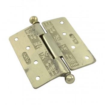 <PRE>Victorian Door Hinge Cast Solid Brass Ball Tip 4inch </PRE>zoom10