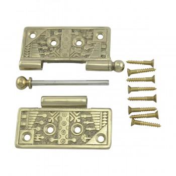 <PRE>Victorian Door Hinge Cast Solid Brass Ball Tip 4inch </PRE>zoom11