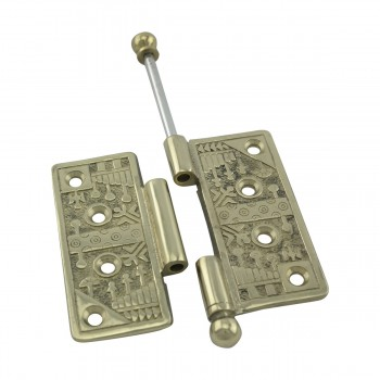 <PRE>Victorian Door Hinge Cast Solid Brass Ball Tip 4inch </PRE>zoom12