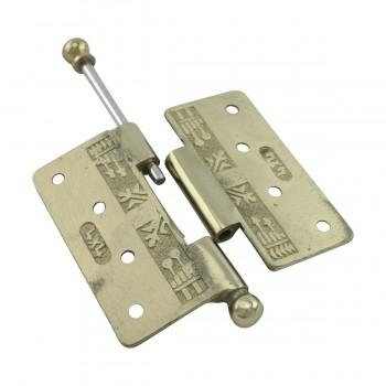 <PRE>Victorian Door Hinge Cast Solid Brass Ball Tip 4inch </PRE>zoom13