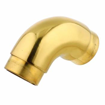 Brass Curved Elbow Fitting 90 degree 2 OD Bar Rail Foot