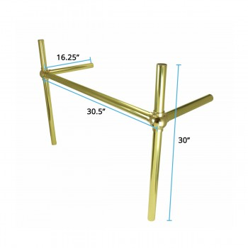 spec-<PRE>Brass Bistro Legs for Double Belle Epoque Console Sink </PRE>