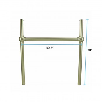 spec-<PRE> Console Sink Bistro Leg Frame Support Satin Nickel Southern Belle</PRE>