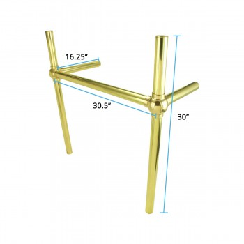 spec-<PRE>Brass Bistro Leg Frame Support for Console Sink Southern Belle </PRE>
