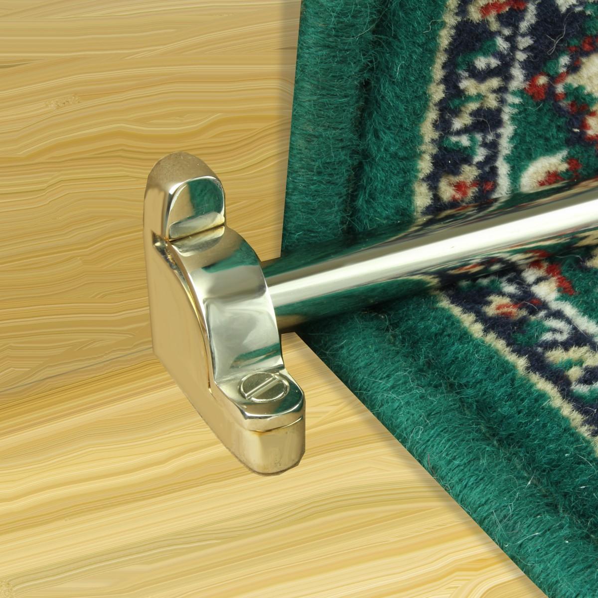 Polished Nickel Carpet Rods for Stair Runner Rod Holder Includes Brackets Carpet Runner Rod Carpet Runner Holders Stair Runner Brackets