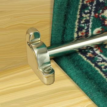<PRE>Polished Nickel Carpet Rods for Stair Runner Rod Holder Includes Brackets</PRE>zoom3