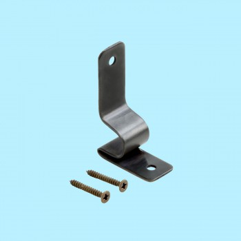 <PRE>Oil Rubbed Bronze Stair Carpet Rod Bracket Holder Sold as Pair (Brackets only)</PRE>zoom2