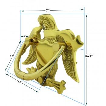 spec-<PRE>Liberty Eagle Door Knocker For Front Door Solid Brass</PRE>