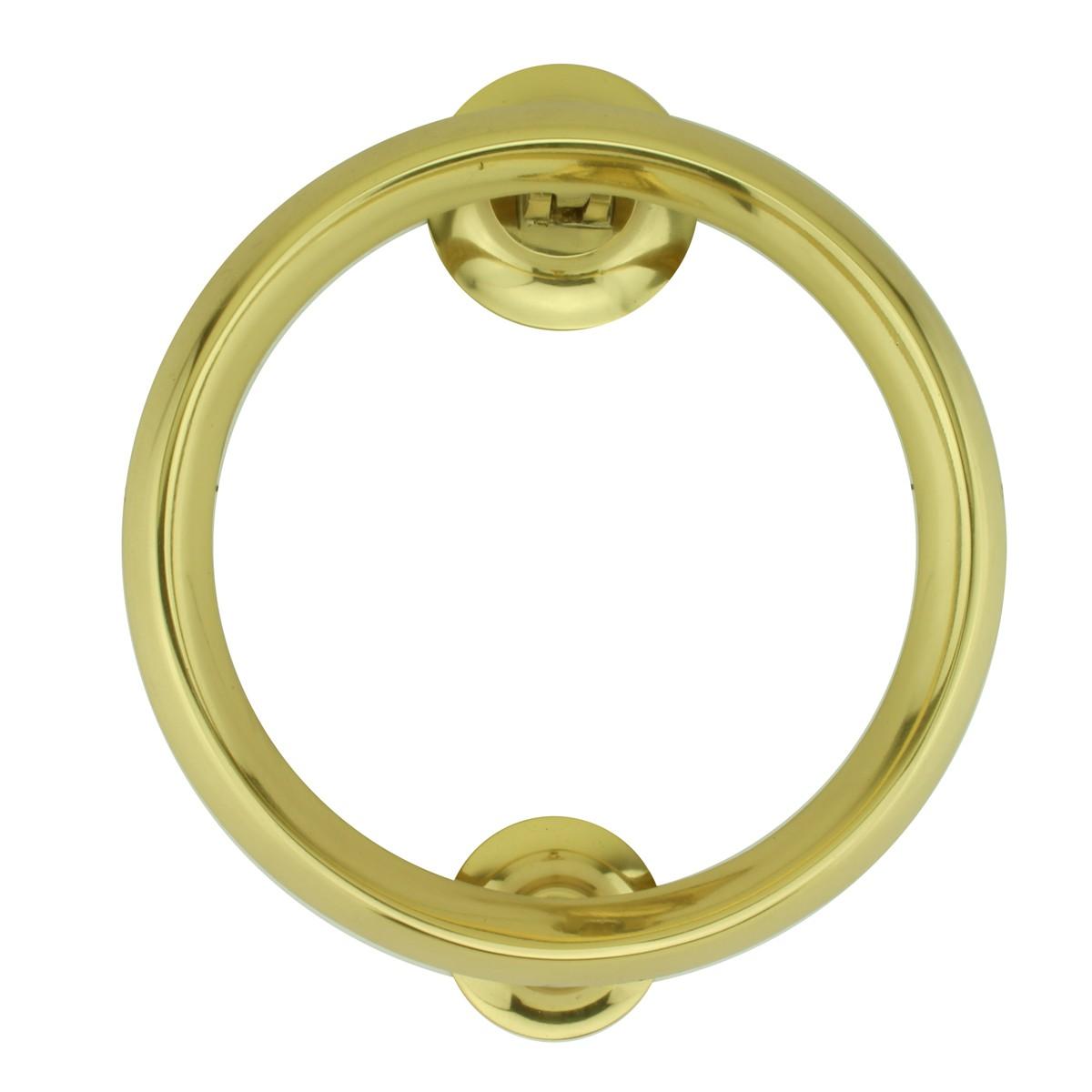 ... U003cPREu003eBeveled Circle Shaped Brass Ring Door Knocker 5 Inch ...