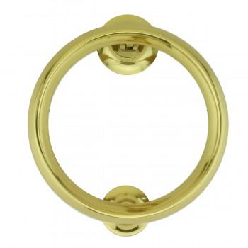 <PRE>Beveled Circle Shaped Brass Ring Door Knocker 5 inch </PRE>zoom2