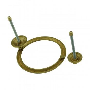 <PRE>Beveled Circle Shaped Brass Ring Door Knocker 5 inch </PRE>zoom6