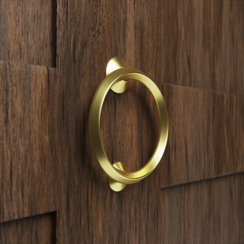 Beveled Circle Shaped Brass Ring Door Knocker 5 inch