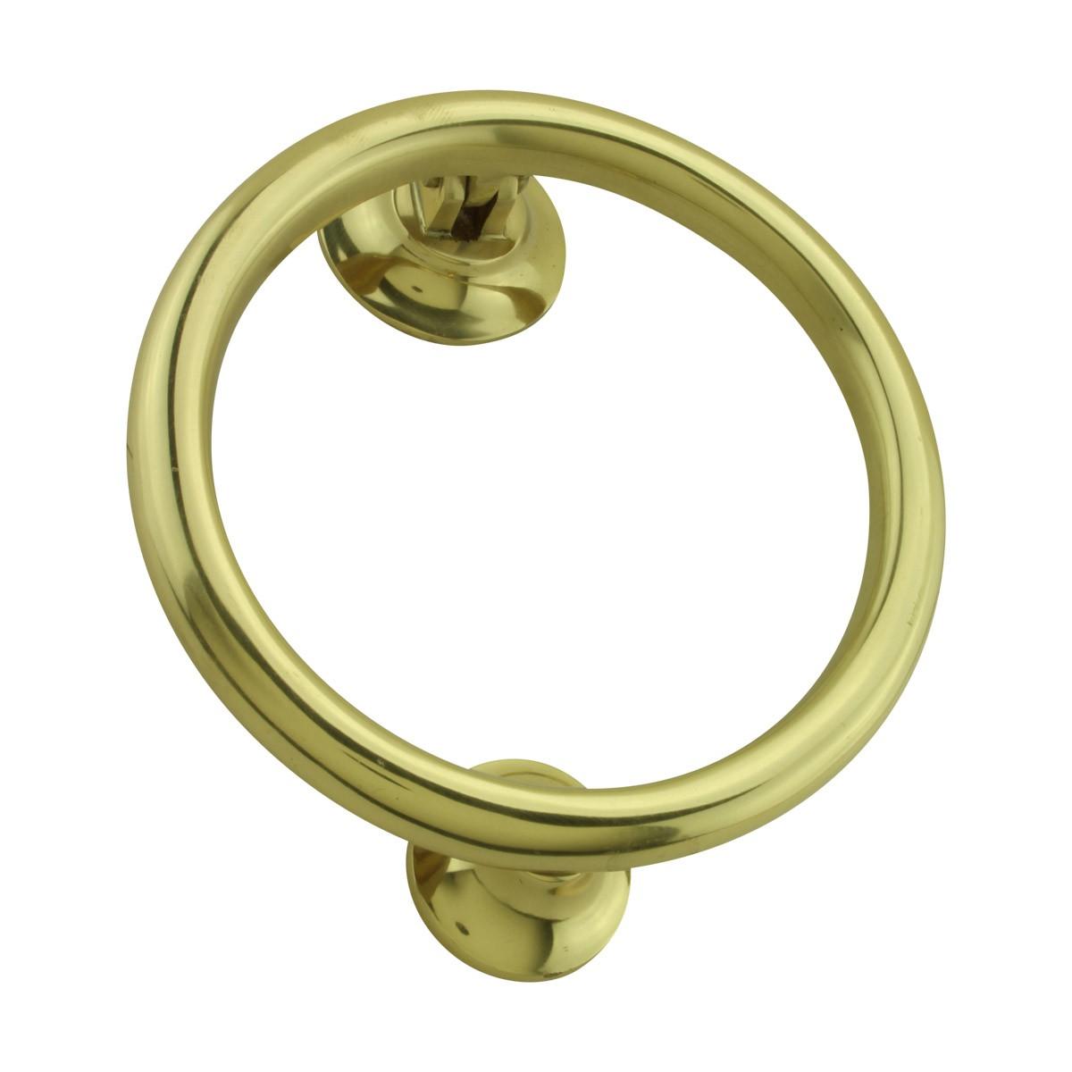 Brass Ring Door Knocker Front Door Entry Heavy Duty