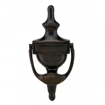 Traditional Oil Rubbed Bronze Door Knocker 6.5 inch H x 3 inch W22125grid